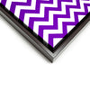 Wall art and Canvas artwork, Purple & White Chevron, Clean