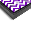 Wall art and Canvas artwork, Purple & White Chevron, Dirty
