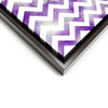 Wall art and Canvas artwork, Purple & White Chevron, Smog