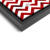 Wall art and Canvas artwork, Red & White Chevron, Dirty