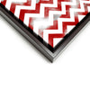 Wall art and Canvas artwork, Red & White Chevron, Smog