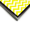 Wall art and Canvas artwork, Yellow & White Chevron, Clean