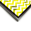 Wall art and Canvas artwork, Yellow & White Chevron, Dirty