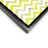 Wall art and Canvas artwork, Yellow & White Chevron, Smog