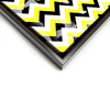 Wall art and Canvas artwork, Black, Yellow, and White Chevron, Bleach