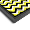 Wall art and Canvas artwork, Black, Yellow, and White Chevron, Stain