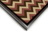 Wall art and Canvas artwork, Chocolate, Chestnut, and Beige Chevron, Clean
