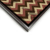 Wall art and Canvas artwork, Chocolate, Chestnut, and Beige Chevron, Stain