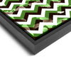 Wall art and Canvas artwork, Chocolate, Green, and White Chevron, Bleach