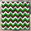 Wall art and Canvas artwork, Chocolate, Green, and White Chevron, Stain