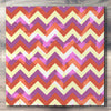 Wall art and Canvas artwork, Coral, Lavender, and Butter Chevron, Bleach