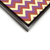 Wall art and Canvas artwork, Coral, Lavender, and Butter Chevron, Clean