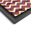 Wall art and Canvas artwork, Coral, Lavender, and Butter Chevron, Stain