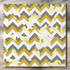 Wall art and Canvas artwork, Gold, Silver, and White Chevron, Bleach