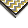 Wall art and Canvas artwork, Gold, Silver, and White Chevron, Clean