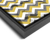 Wall art and Canvas artwork, Gold, Silver, and White Chevron, Stain
