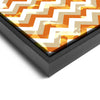Wall art and Canvas artwork, Pumpkin, Beige, and White Chevron, Bleach