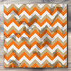 Wall art and Canvas artwork, Pumpkin, Beige, and White Chevron, Stain