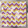Wall art and Canvas artwork, Plum, Gold, and Silver Chevron, Bleach