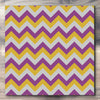 Wall art and Canvas artwork, Plum, Gold, and Silver Chevron, Clean