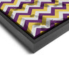 Wall art and Canvas artwork, Plum, Gold, and Silver Chevron, Stain