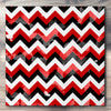 Wall art and Canvas artwork, Red, Black, and White Chevron, Bleach