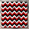 Wall art and Canvas artwork, Red, Black, and White Chevron, Stain