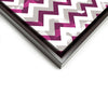 Wall art and Canvas artwork, Raspberry, Silver, and White Chevron, Bleach