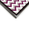 Wall art and Canvas artwork, Raspberry, Silver, and White Chevron, Clean