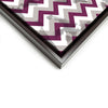 Wall art and Canvas artwork, Raspberry, Silver, and White Chevron, Stain
