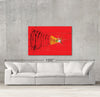 Cactus on Mars sample canvas art on a wall with sofa