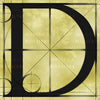 Canvas artwork monogram wall art letter D beige & black