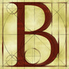Canvas artwork monogram wall art letter B beige & rust