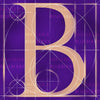 Canvas artwork monogram wall art letter B purple