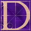 Canvas artwork monogram wall art letter D purple