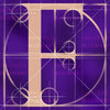 Canvas artwork monogram wall art letter F purple