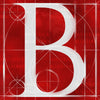 Canvas artwork monogram wall art letter B red & white