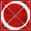 Canvas artwork monogram wall art letter O red & white