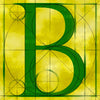 Canvas artwork monogram wall art letter B yellow & green
