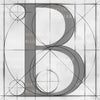 Canvas artwork monogram wall art letter B silver & gray
