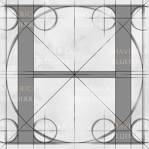 Canvas artwork monogram wall art letter H silver & gray