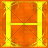 Canvas artwork monogram wall art letter H orange & yellow