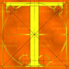 Canvas artwork monogram wall art letter T orange & yellow