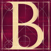 Canvas artwork monogram wall art letter B burgundy
