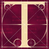 Canvas artwork monogram wall art letter T burgundy