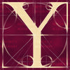 Canvas artwork monogram wall art letter Y burgundy