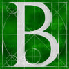 Canvas artwork monogram wall art letter B green & white