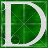 Canvas artwork monogram wall art letter D green & white