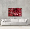 No Way Out sample canvas art on a wall with sofa