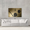 Senza Titolo sample canvas art on a wall with sofa